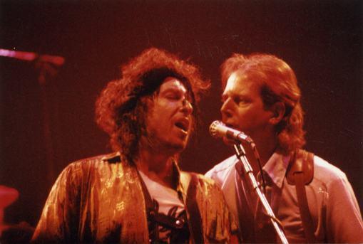 Bob Dylan en Roger McGuinn